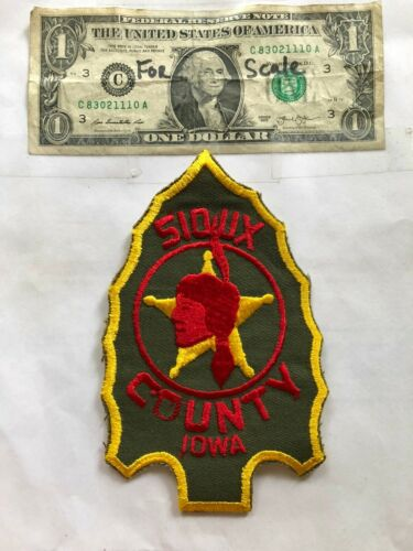 Rare Sioux County Iowa Police Patch Un-sewn great shape