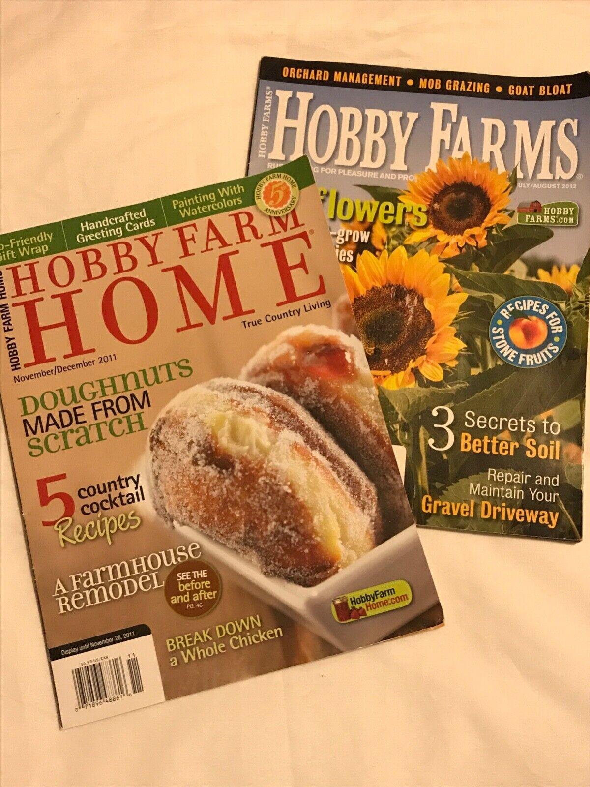 Hobby Farm Magazines Lot Of 2 Good Condition  - $2.50