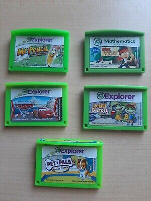 LeapFrog Explorer Lot of Game Cartridges - Mr Pencil, Cars, Pet Pals