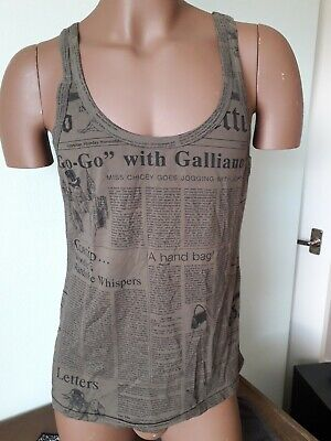 Mens John Galliano Vest XL