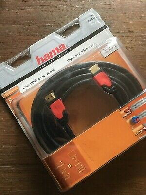 4K high speed HDMI 5 meter - gold plated - new in blister