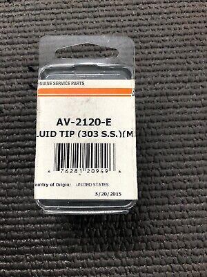 Devilbiss Fluid Tip Av-2120-e 1.8 .070 Fluid Tip Paint Gun Parts