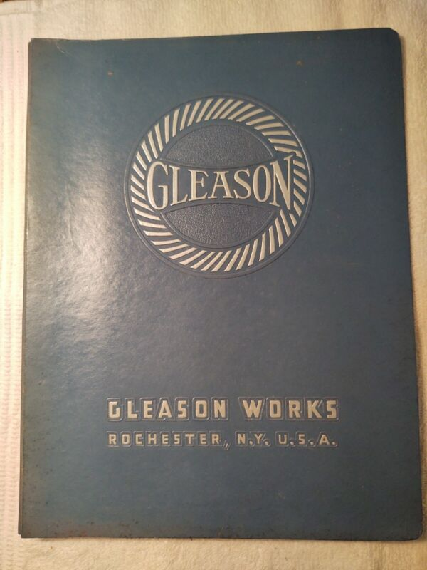 OPERATING INSTRUCTIONS FOR THE NO. 118 GLEASON HYPOID GENERATOR:GLEASON WORKS