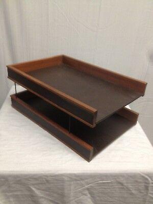 Vintage Executive Wood Desk Organizer