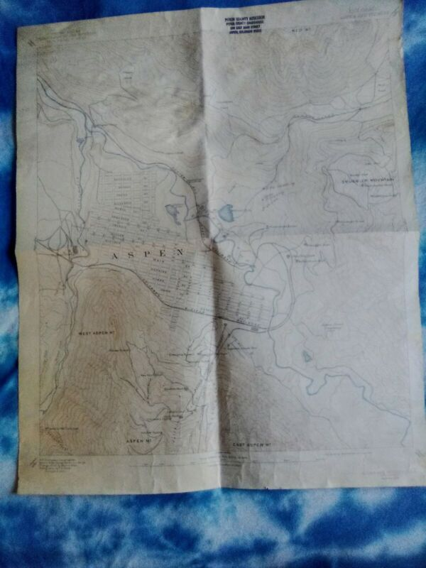 1939 and a 1946 Map, Dept. of Interior Geological Survey Aspen