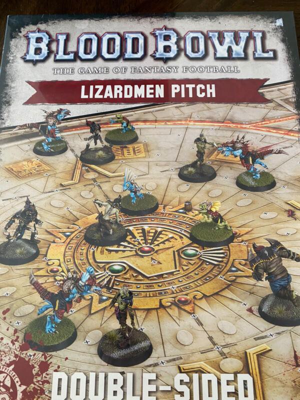 Lizardmen Blood Bowl Pitch OOP Games Workshop Factory Sealed