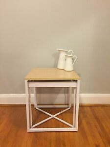 Functional and cute white side table  Kitchener / Waterloo Kitchener Area image 1