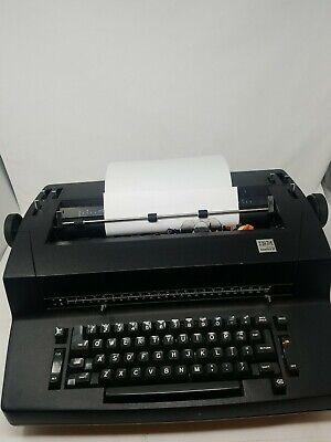 Vintage Ibm Selectric Ii Correcting Electric Black Typewriter Rare