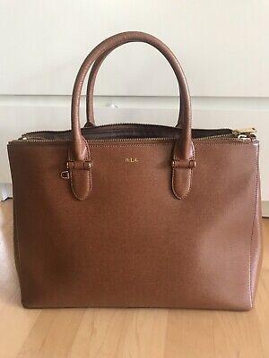 Lauren Ralph Lauren NEWBURY Double Zip Shopper BRAUN - Handtasche