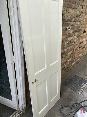 5 Reclaimed Victorian 4 panel doors. Painted / unrestored.
