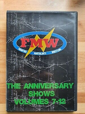 FMW Frontier Martial Arts Wrestling Anniversary Collection 7-12 On 6 DVDs