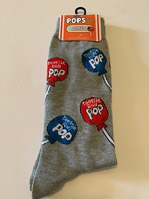 New Tootsie Roll Lolli Pop Candy Men's Dress Casual Novelty Crew Socks Gray - Tootsie Roll Dress