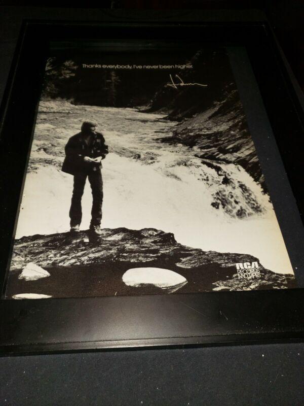 John Denver Rare RCA Records Original Promo Poster Ad Framed!