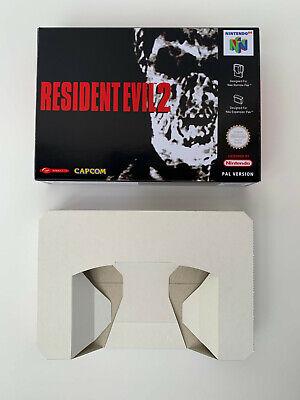 Caja Box repro Nintendo 64 N64 Resident Evil 2 PAL FRA-GER Box only