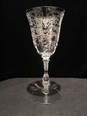 Cambridge Portia etched goblet 12 oz stem #3121