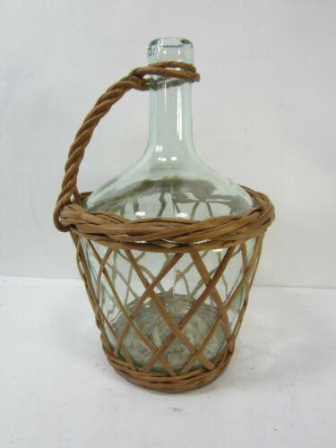 Vintage Viresa Wine Bottle in Basket  #AH