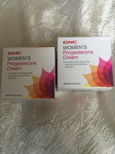 Lot of 2 GNC Womens Progesterone Cream