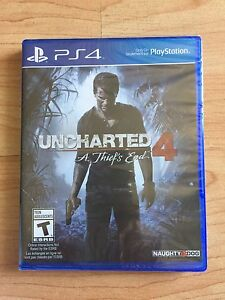 PS4 games. Brand new unopened Uncharted 4, used Second Son