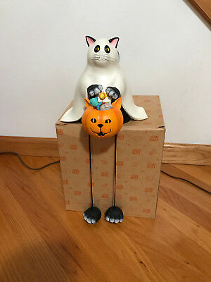 Halloween Or Holloween (Bethany Lowe Black Cat Ghost Trick-or-Treater Shelf Sitter Holloween Shelf Sit )