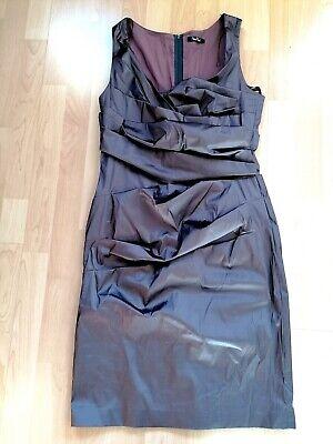 Vera Mont Kleid 🌞 L 40 mauve Cocktail Raffung Taft online kaufen