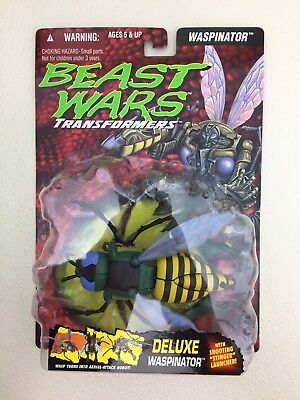 UNRELEASED TEST PACKAGING Transformers Beast Wars Waspinator Rock Blister w/pips