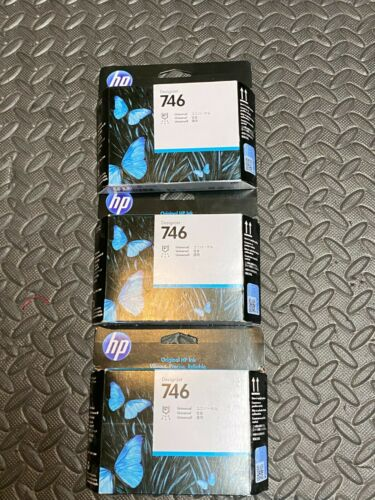 (3) Genuine HP 746 Universal Printhead P2V25A DESIGNJET Z6 Z9 Sealed!
