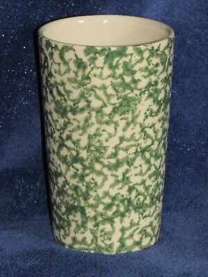 Green Spongeware 16 Oz Tumbler Workshop of Gerald Henn Roseville OH