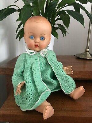 VINTAGE 1950's ROSEBUD HARD PLASTIC BABY DOLL