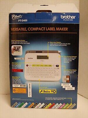 Brother Pt-d400 Versatile Compact Label Maker   Missing Ac Adapter
