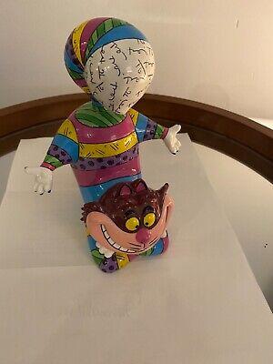 Romero Britto Disney Cheshire Cat Alice in Wonderland Figurine , Rare 4023843