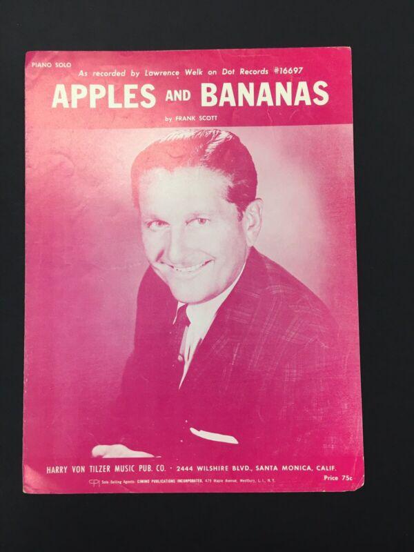 Apples and Bananas 1965 LAWRENCE WELK Vintage Sheet Music Q01