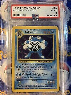 1999 Pokemon Base set Unlimited PSA 9 Holo Poliwrath 23/102