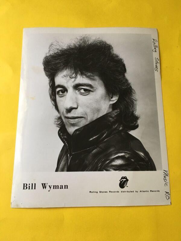 Bill Wyman Press Photo 8x10, Rolling Stones Records.
