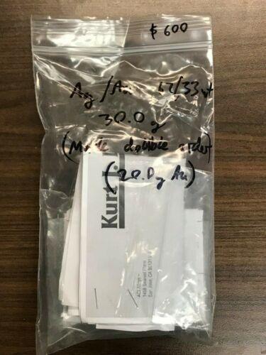 Ag/Au 67/33 wt% evaporation pellets, 1-3m, 30g