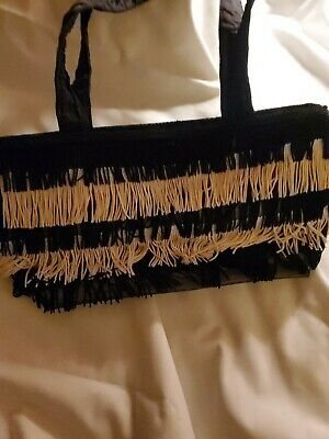 1920s Style Purses, Flapper Bags, Handbags Braciano Roaring 1920's style purse / Black and White $3.99 AT vintagedancer.com