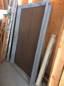 4' steel double door!!