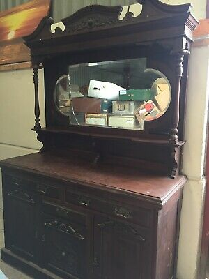 Decorative Vintage Antique  Sideboard Chiffonier  Dresser For Restoration 24/8/A