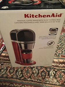 Kitchen aid personal coffee maker with thermal mug 70$