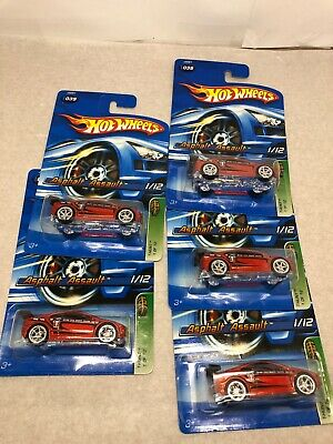 Lot of 5 (5) Hot Wheels 06 TREASURE HUNT ASPHALT ASSAULT Value Lot of 5!