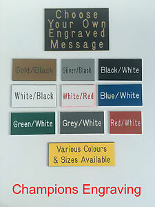 CHOOSE-YOUR-OWN-ENGRAVING-Sign-Plaque-Choice-of-Sizes-Colours-FREE-P-P