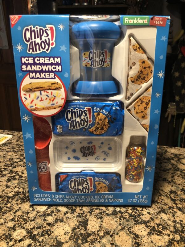 Chips Ahoy Ice Cream Sandwich Maker Kit Frankford Nabisco BB March 2020 NIB