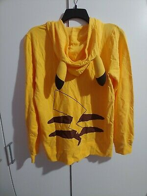 Large Pokemon Pikachu Unisex Hoodie With Ears Official Cosplay Sweater