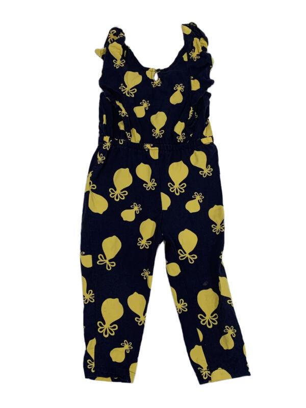 JANIE & JACK Size 3 Romper Navy Blue Rayon Sleeveless Pant