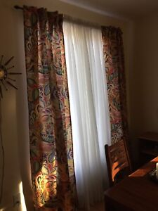 """Pier I Paisley Print Drapes, Curtains and Sheers 84""""."""