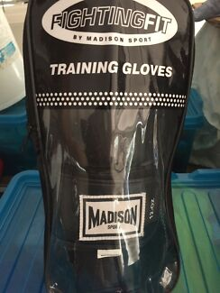 Boxing bag and gloves