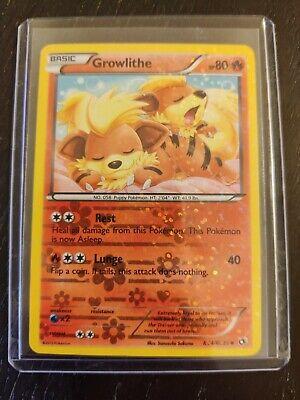 Pokemon Legendary Treasures Growlithe Holo RC4//25 Radiant Collection Near Mint