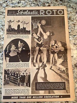 Scholastic Roto Newspaper- March 1946 Stevens Point - Waukesha Basketball- Wis.