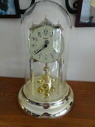 VTG Kienzle Glass Dome Anniversary Mantle Clock