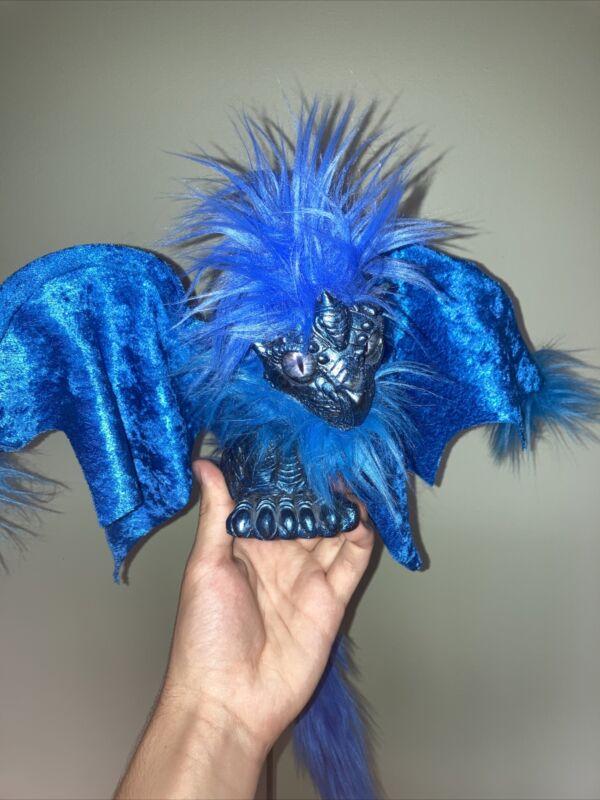 DRABBIT Shoulder Puppet Imaginarium Galleries Renaissance Festival Dragon, Blue