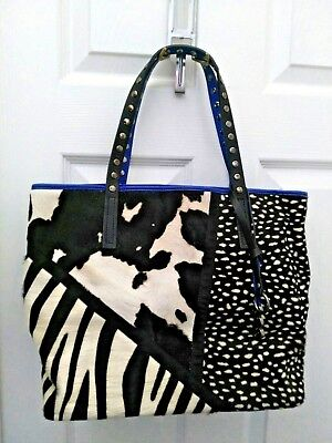 EUC - AB Asia Bellucci TOTE - Leather/Pony Hair